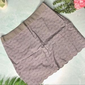 J. Crew Grey Lace Mini Skirt